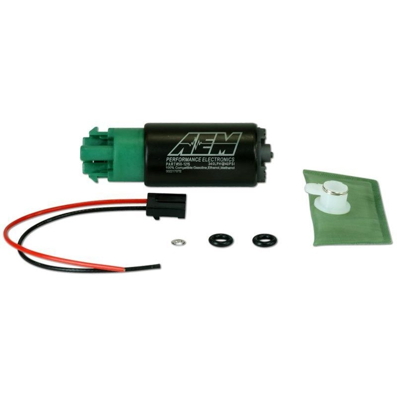 Pompe à essence AEM E85 340Lh 65mm avec crochet