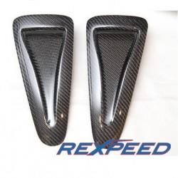 Jeu prise d'air capot carbone Rexpeed Nissan GT-R35