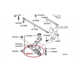 Pare-poussière rotule avant inférieur pour Lancer Evolution 7 à 9