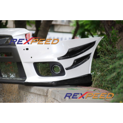 Flaps avant carbone Rexpeed Mitsubishi Lancer Evolution X