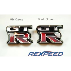 Logo GTR Noir Chrome Rexpeed