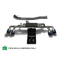 Cat-Back ArmyTrix en titane avec valve et sorties bleues