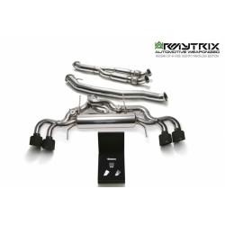 Catback ArmyTrix en acier inoxydable avec valves et sorties noires mates