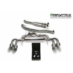 CatBack ArmyTrix en acier inoxydable avec valves et sorties argents chromés