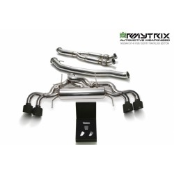 Catback Armytrix en acier inoxydable avec valves, sorties noires mates pour GTR R35