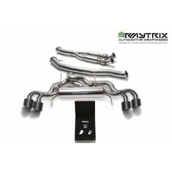 Catback Armytrix en acier inoxydable avec valves, sorties carbone en acier inoxydable pour GTR R35