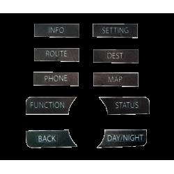 Kit de stickers Dashboard en Anglais