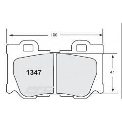 Jeu de 4 plaquettes arrière PFC Compound08 pour Nissan 370Z Akebono