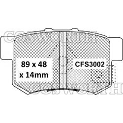 Plaquettes de Frein arrière Cosworth StreetMaster pour Honda Civic Type R et S2000