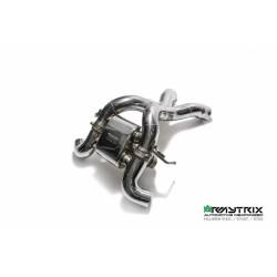 Catback Armytrix en acier inoxydable avec valves, sorties carbone pour McLaren 570S
