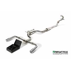Catback Armytrix en acier inoxydable avec valves, sorties argents chromés en acier inoxydable pour Seat Leon