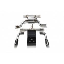 Catback Armytrix en acier inoxydable avec valves, sorties carbone en acier inoxydable pour Seat Leon