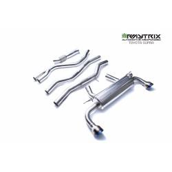 Catback Armytrix en acier inoxydable avec valves, sorties bleues en acier inoxydable pour Toyota SUPRA MK5