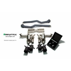 Catback Armytrix en titane avec valves, sorties noires mates en titane pour Ferrari F12 Berlinetta