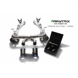 Catback Armytrix en acier inoxydable avec valves, double sorties noires mates en titane pour Ferrari 458
