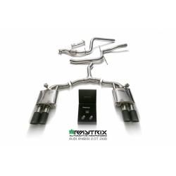 Catback Armytrix en acier inoxydable avec valves, sorties noires mates en acier inoxydable pour Audi A4 Avant B9