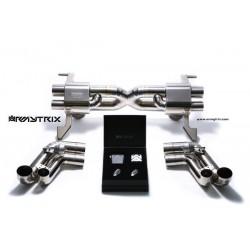 Catback Armytrix en titane avec valves  pour Audi R8 MK1 V8 4.2 FSI (2007-2012)