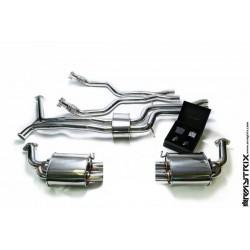 Catback Armytrix en acier inoxydable avec valves, sorties argent chromés en acier inoxydable pour Audi A6/A7 C7 3.0 TFSI
