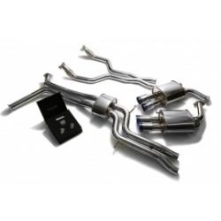 Catback Armytrix en acier inoxydable avec valves, sorties bleues en acier inoxydable pour Audi A6/A7 C7 3.0 TFSI