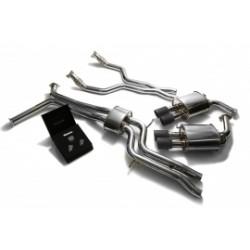 Catback Armytrix en acier inoxydable avec valves, sorties noires mates en acier inoxydable pour Audi A6/A7 C7 3.0 TFSI