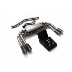 Catback Armytrix en acier inoxydable avec valves, sorties carbone pour Audi S3 8V Sportback