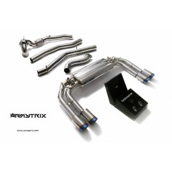 Catback Armytrix en acier inoxydable avec valves, sorties bleues pour Audi S3 8V Sportback
