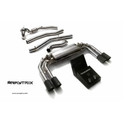Catback Armytrix en acier inoxydable avec valves, sorties noires mates pour Audi S3 8V Sportback