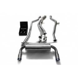 Catback Armytrix en acier inoxydable avec valves, sorties bleues pour BMW Série 2 Coupé F22 M235i