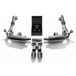 Catback Armytrix en acier inoxydable avec valves, sorties carbone pour Porsche 718 Boxster/Boxster S