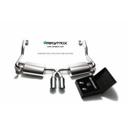 Catback Armytrix en acier inoxydable avec valves, sorties argent chromés pour Porsche 987.2 PDK/Boxster S/Black edition/Spyder
