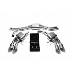 Catback Armytrix en acier inoxydable avec valves, sorties argent chromés pour Porsche Macan S/GTS 3.0 V6 Turbo