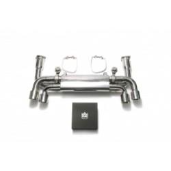 """Catback Armytrix en acier inoxydable avec valves, sorties argent chromés pour Porsche 911 (991.2) Carrera""""Quad tips version"""""""