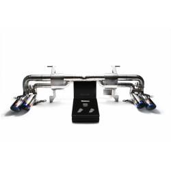Catback Armytrix en titane avec valves, sorties bleues pour Lamborghini Gallardo LP550-2/560-4/570-4