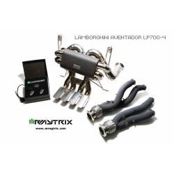 Catback Armytrix en titane avec valves, sorties en titane pour Lamborghini Aventador LP700-4 / LP720-4