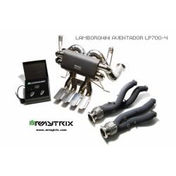 Catback Armytrix en titane avec valves, sorties en titane pour Lamborghini Aventador LP750-4 SV