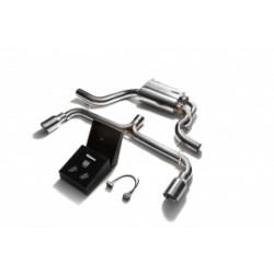 Catback Armytrix en acier inoxydable avec valves, sorties argent chromés pour Volkswagen Golf 6 GTI