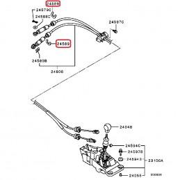 Clip fixation câble levier...